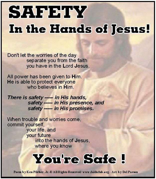 Safety in the hands of Jesus